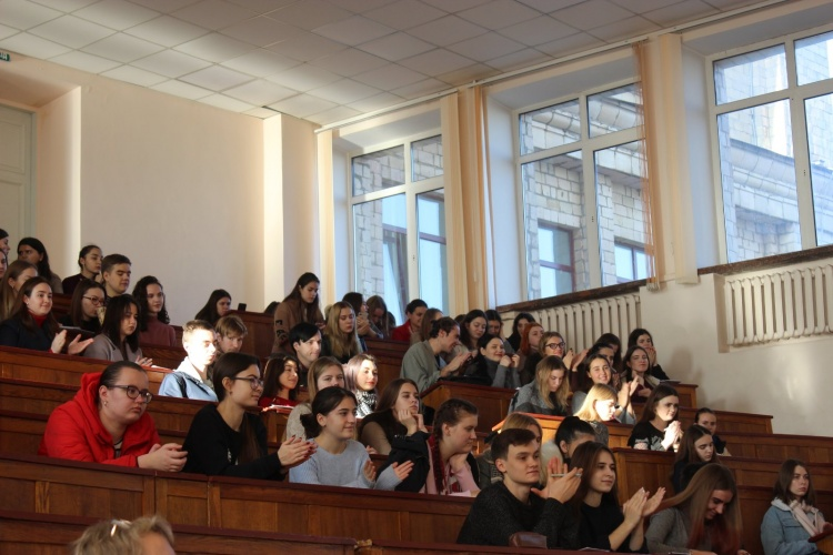 A friendly meeting  with students on the occasion of the 215th anniversary of Karazinsky!